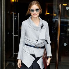 Olivia Palermo Has the London Look on Lock Knitting Pretty:Leaving her hotel