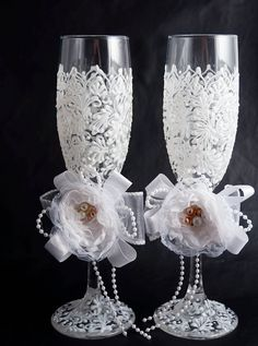 #wedding #champagne #flutes