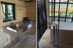 naoto fukasawa's muji hut embodies his idea of peacefulness Muji Hut, Wooden Hut, Naoto Fukasawa, Tokyo Design, Corrugated Roofing, Japanese Architecture, Tiny House, Cabin, Furniture