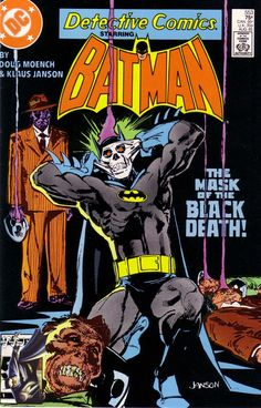 Continued from Batman Black Mask takes revenge on his former mistress Circe. Plus, Green Arrow faces off against Bonfire, who has trapped Black Canary in a burning building. Continued in Batman Dc Comic Books, Comic Book Covers, Comic Art, Dc Comics, Star Comics, Black Mask Batman, I Am Batman, Black Death, Batman Universe