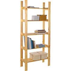 Light Duty 5 Shelf Storage Unit   Solid Pine.
