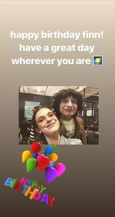 Finn Wolfhard Millie Bobby Brown I Ship It, Millie Bobby Brown, Have A Great Day, Stranger Things, Movies And Tv Shows, Love Him, The Cure, Best Friends, Happy Birthday