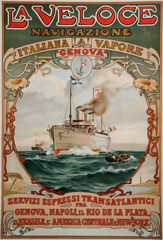 A beautiful Art Nouveau travel poster from 1889 - Dieselpunks