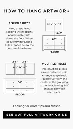 How to Hang Artwork Free Interior Design, Interior Design Services, Wine Bottle Wall, After Life, Mirror Art, Panel Art, Baskets On Wall, Wall Art Sets, Tapestry Wall Hanging