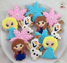 Frozen cookies, ana and elsa cookies, elsa cookies, ana cookies, olaf cookies, frozen party favors