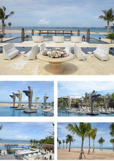 COOL SPOT! Private beach at Hotel Mulia Resort & Spa, Bali -> http://bronx-magazine.com/2013/07/the-mulia-bali/