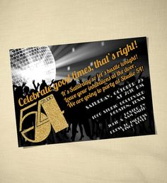 Studio 54 Party Invitation by erinnesser on Etsy