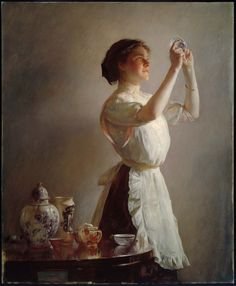Joseph Rodefer DeCamp (American, 1858–1923) - The Blue Cup | Museum of Fine Arts, Boston