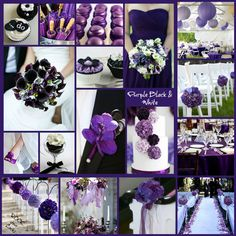 PURPLE BLACK & WHITE OUTDOOR WEDDING inspiration by Rock your Locks  http://www.facebook.com/photo.php?fbid=492426330813978=a.319543871435559.75102.133025596754055=1