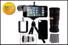 Be prepared for that winning photo Save 46% on this iPhone 5 Lens Kits - includes 4 lenses, tripod & case. #iphone_lens #smartphone_lens