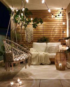 New Apartment Patio Bohemian Living Rooms 27 Ideas Outdoor Balcony, Outdoor Rooms, Backyard Patio, Outdoor Living, Outdoor Furniture, Balcony Garden, Backyard Landscaping, Outdoor Pergola, Balcony Swing