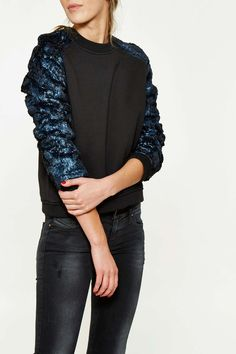 ⇒ Eleven Paris Sweat Shirt Eleven Paris Travolta Noir Femme Sweatshirt | Livraison Et Retour Gratuits