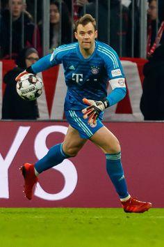 Goalkeeper Manuel Neuer of FC Bayern Muenchen controls the ball. Neuer Goalkeeper, Buffon Goalkeeper, Fc Bayern Munich, Marc Andre, Lewandowski, Munich Germany, Soccer Players, Real Madrid, Fans