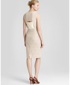 REISS Fitted Dress - Gene Inset Panel | Bloomingdale's