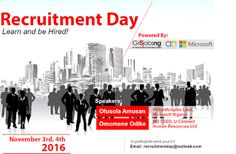 Welcome to Olusola Olaniyi's Planet blog : Microsoft & Gr8Jobsng recruitment day!!