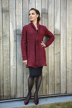 Ravelry: Carla Coat pattern by Linda Marveng Above it is gorgeously worn by dancer Francesca Golfetto, beautifully styled by Line Sekkingstad, and brilliantly photographed by Kim Müller. Knitting Books, Knitting Ideas, Knitting Patterns, Knit Basket, Seed Stitch, Circular Knitting Needles, Coat Patterns, My Design, Sweaters