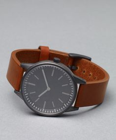 Uniform Wares 251 Series PVD Gun Grey / Tan Leather  When did I start obsessing about reasonably priced watches?