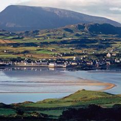 Dunfanaghy village, Donegal, Ireland  with Muckish ( pigs back)  mountain. Happy summer holidays spent here.  R McN