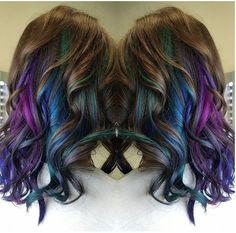 Oil slick hair by Vannora Hawkins