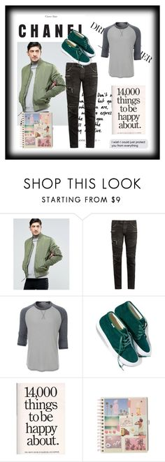 """Autumn clothing"" by jenkey-cool-fashion ❤ liked on Polyvore featuring Alpha Industries, Balmain, LE3NO, Vans, men's fashion, menswear, easy and Costume"