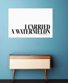 I Carried A Watermelon as Premium Poster by Honeymoon Hotel   JUNIQE