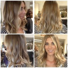 beautiful blonde ombre hair color