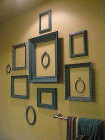 Vintage Dutch Girl: Wall of TEAL Frames...