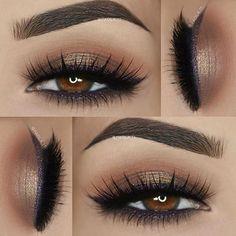 // Patrizia Conde - Bolt Make up Looks - Maquillage Makeup Goals, Love Makeup, Makeup Inspo, Makeup Inspiration, Makeup Tips, Skin Makeup, Eyeshadow Makeup, Gel Eyeliner, Gold Eyeshadow Looks