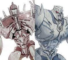 Optimus and Megatron