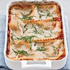 Free-Form Sausage-and-Three-Cheese Lasagna | This rustic and gooey lasagna is packed with cheese and sausage. The style is called free-form because the pasta can be arranged in different ways—for instance, folded over the filling—instead of traditionally layered.