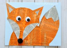 Woodland Animals Newspaper Fox Craft is part of Woodland Animal crafts - Newspaper fox craft for kids, fun woodland animal crafts, newspaper crafts, crafting with recyclable materials and fall animal crafts for kids Animal Crafts For Kids, Fall Crafts For Kids, Kids Crafts, Easy Crafts, Art For Kids, Arts And Crafts, Kids Fun, Fox Crafts, Tree Crafts
