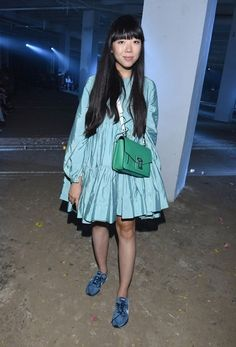 Susie Bubble wearing Molly Goddard dress at NYFW SS17 #susielau #stylebubble