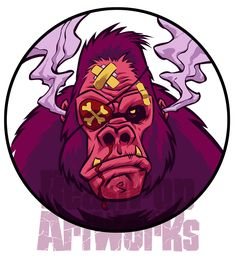 BeastPop Gorilla Mascot 3 by pop-monkey on DeviantArt