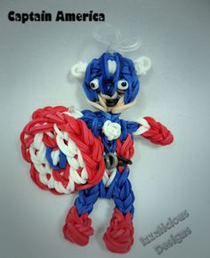 Captain America using the Rainbow Loom