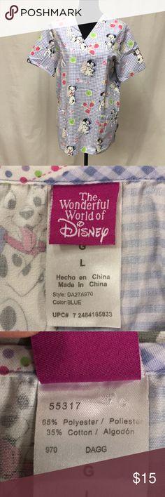 Scrub (Walt Disney) Sooo adorable Disney Dalmatian scrub great condition Walt disney Tops