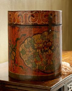 This Antique Chinese Hat Box makes me wonder what type of hat would have been inside.  Do you have any ideas?