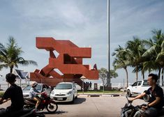 Supermachine Studio adds labyrinthine staircase to seaside park in Thailand.
