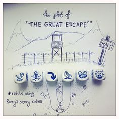 """rory's story cubes rock! ...The plot of """"The Great Esc"""