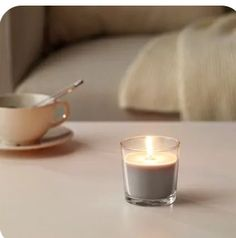 Ikea Candles, Diy Candles, Glass Candle, Candle Jars, Candle Holders, Scented Tea Lights, Scented Candles, Ikea Family, Paraffin Wax