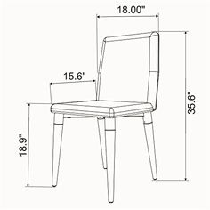 LeisureMod Walker MidCentury Acrylic Dining Chair with