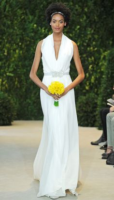 Carolina Herrera Wedding Dresses Spring 2014 - Check out these fabulous Carolina Herrera wedding gowns created for the spring of 2014 and see if you can spot your dream dress! Wedding Dresses 2014, Wedding Dress Styles, Designer Wedding Dresses, Wedding Attire, Wedding Gowns, Carolina Herrera Bridal, Vogue, Black Bride, Bridal Fashion Week