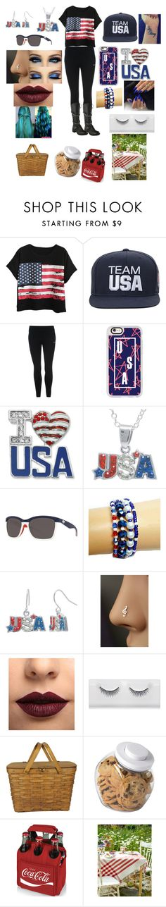 """Happy Labor Day"" by raven-ranger ❤ liked on Polyvore featuring Chicnova Fashion, USA Pro, Casetify, Kim Rogers, Crystal Sophistication, Costa, LASplash, OXO and Picnic Time"