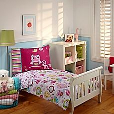 image of Everything Kids by Nojo® Hoot Hoot 4-Piece Toddler Comforter Set