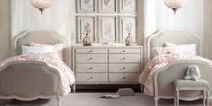 Restoration hardware girl's bedroom