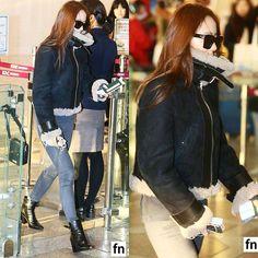"""[NEWSPICS] 151204 #Krystal at Gimpo Airport to Beijing, China. - © fn star - #fx #soojung #jungsoojung #krystaljung"""