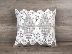 Check out this item in my Etsy shop https://www.etsy.com/listing/387181294/gray-throw-pillow-country-shabby-chic