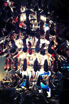 Kurt Geiger shoe chandelier = amay