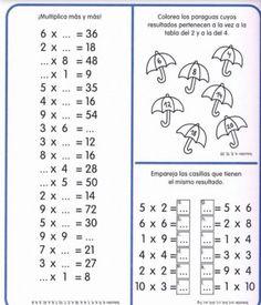 Cuaderno tablas de multiplicar (27) Multiplication Facts Worksheets, Kids Math Worksheets, Teaching Resources, Multiplication Sheets, Math Games, Math Activities, Math Exercises, Third Grade Math, Homeschool Math