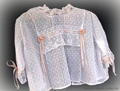 handmade dotted swiss baby's chemise/camisia ... ca. 1915