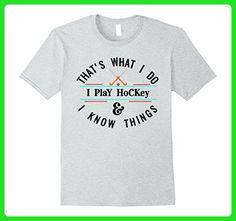 Mens Funny Ice Hockey T shirt, Cool Hockey Gift Idea for Players Medium Heather Grey - Sports shirts (*Amazon Partner-Link)